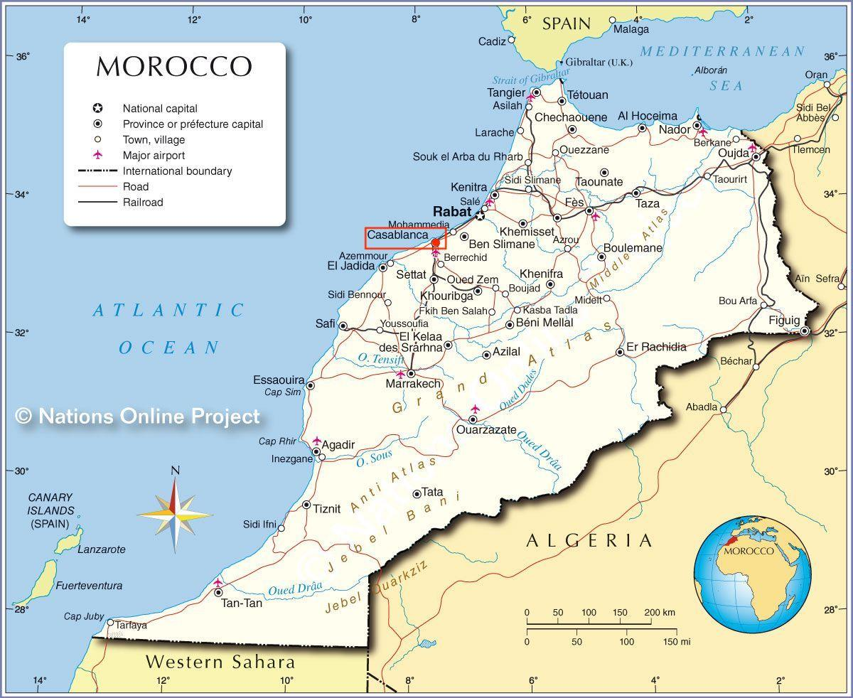 Marocco Cartina Stradale.Mappe Di Casablanca Mappe Dei Trasporti E Mappe Turistiche Di Casablanca In Marocco